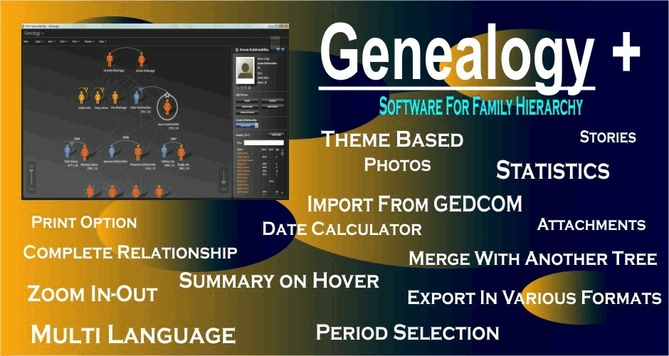 Genealogy + (Software for Family Hierarchy)