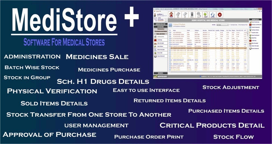 MediStore + (Software for Medical Store)