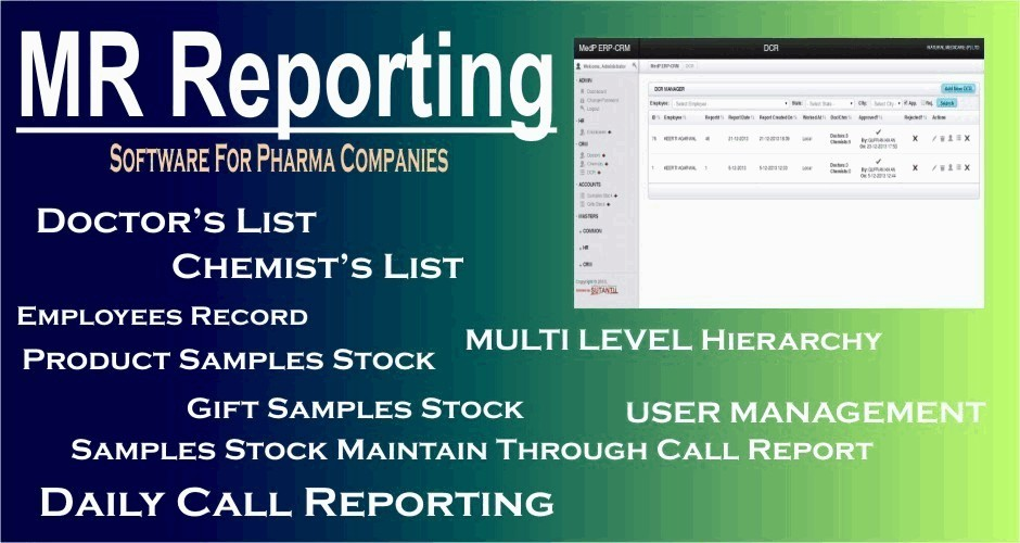 MR Reporting (Software for Pharma Companies)
